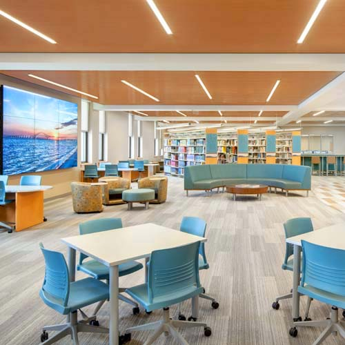 St. John the Baptist Diocesan High School Library + Media Center