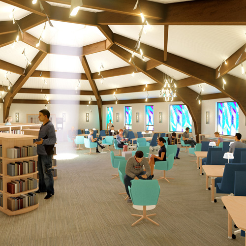 New Bayport-Blue Point Public Library (St. Ursula Convent Adaptive Re-Use)