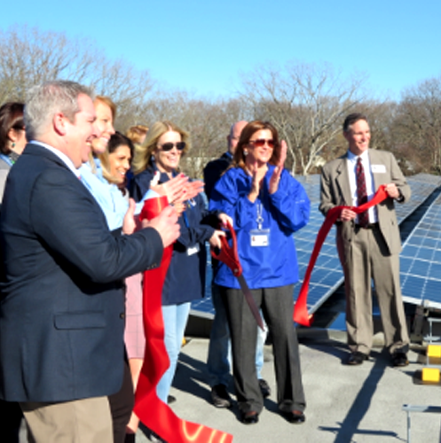 Solar Project Ribbon-Cutting Ceremony at Clinton Elementary