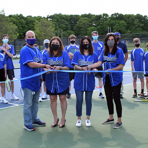 Tennis Court Renovations Completed at Elwood High School